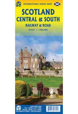 Scotland Central & South | wegen- en spoorwegenkaart 1:300.000 9781771297141  ITM   Landkaarten en wegenkaarten Schotland