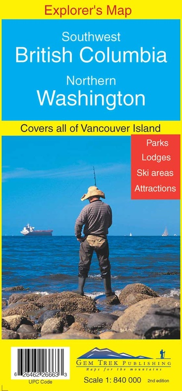 SW British Columbia + Northern Washington (1) 9781895526660  Gem Trek Publishing Explorer's Maps  Landkaarten en wegenkaarten West-Canada, Rockies