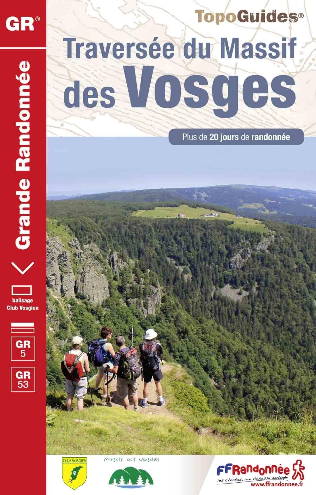 GR-5 | TG-502  Crête des Vosges | wandelgids GR 5 9782751409790  FFRP topoguides à grande randonnée  Lopen naar Rome, Wandelgidsen Vogezen