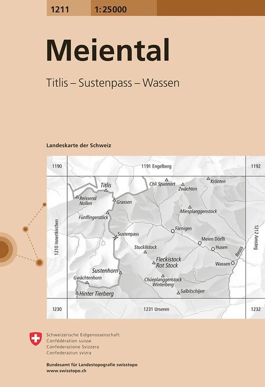 CH-1211  Meiental [2019] topografische wandelkaart 9783302012117  Bundesamt / Swisstopo LKS 1:25.000 Midden/Oost-Zw.  Wandelkaarten Midden- en Oost-Zwitserland