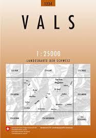 CH-1234  Vals | wandelkaart [2009] topografische wandelkaart 9783302012346  Bundesamt / Swisstopo LKS 1:25.000  Wandelkaarten Graubünden, Tessin