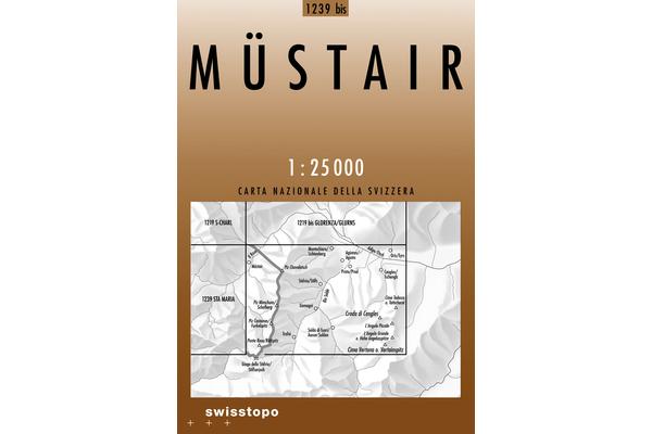 CH-1239Bis  Müstair [2005] topografische wandelkaart 9783302112398  Bundesamt / Swisstopo LKS 1:25.000  Wandelkaarten Graubünden, Tessin