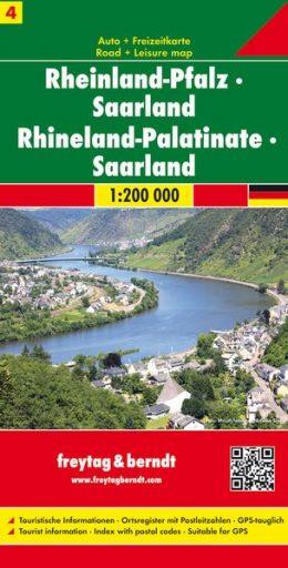 FBD-04  Rheinland-Pfalz, Saarland 1:200.000 9783707900552  Freytag & Berndt Duitsland 1:200.000  Landkaarten en wegenkaarten Rheinland-Pfalz