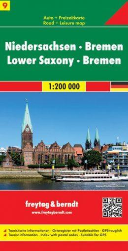 FBD-09  Niedersachsen & Bremen 1:200.000 9783707901672  Freytag & Berndt Duitsland 1:200.000  Landkaarten en wegenkaarten Noordwest-Duitsland
