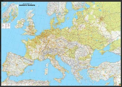 Europa 1:3.500.000 (fysisch / natuurkundige overzichtskaart) 9783707903027  Freytag & Berndt   Landkaarten en wegenkaarten Europa