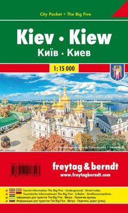 Kiev 1:15.000 | compacte stadsplattegrond 9783707917543  Freytag & Berndt   Stadsplattegronden Oekraïne