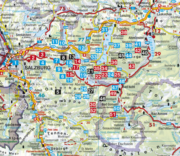 Rother wandelgids Salzkammergut West | Rother Wanderführer 9783763343850  Bergverlag Rother RWG  Wandelgidsen Salzburg, Karinthië, Tauern, Stiermarken