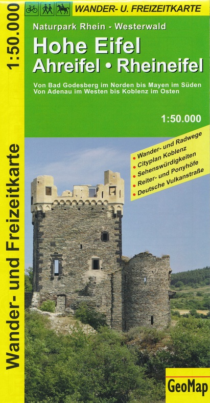 Hohe Eifel, Ahreifel, Rheineifel 1:50.000 9783933671158  GeoMap Wandelkaarten Eifel  Wandelkaarten Eifel