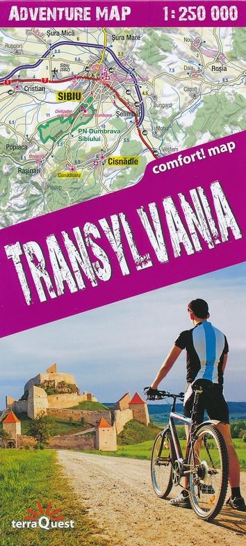 Transylvania (Transsylvanië) 1:250.000 overzichtskaart / wegenkaart 9788361155454  TerraQuest   Landkaarten en wegenkaarten Roemenië, Moldavië