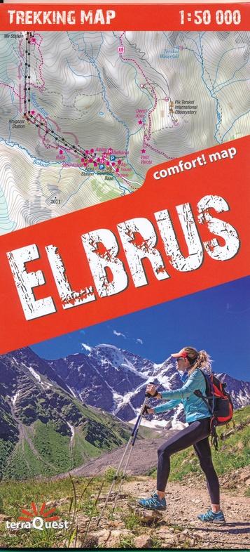 Elbrus / Elbruz wandelkaart 1:50.000 9788361155607  TerraQuest   Wandelkaarten Kaukasus
