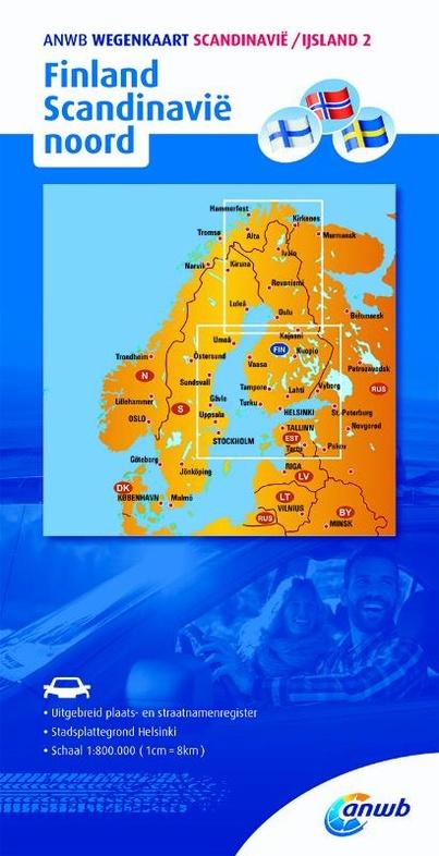 Noord-Scandinavië + Finland 9789018042837  ANWB Wegenkaarten  Landkaarten en wegenkaarten Scandinavië & de Baltische Staten