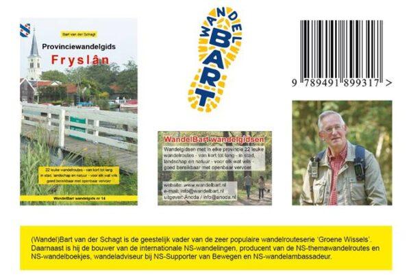 Provinciewandelgids Fryslân   Wandelbart 9789491899317  Anoda   Wandelgidsen Friesland