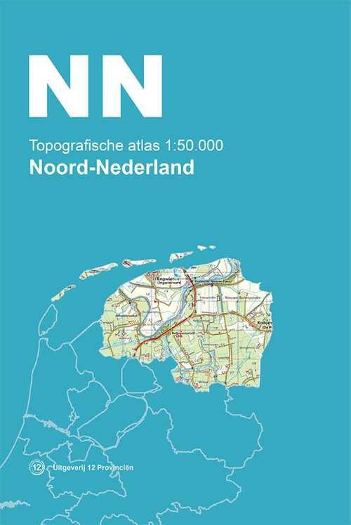 Topografische Atlas 1:50.000 Nederland (set van 4 boeken) 9789492534033  12 Provincien Ned. 1:50.000  Wandelkaarten, Wegenatlassen Nederland
