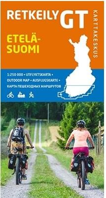 Zuid-Finland fietskaart 1:250.000 Etelä Suomi Retkeily GT 9789522665379  Genimap Oy Outdoor GT  Fietskaarten, Landkaarten en wegenkaarten Finland