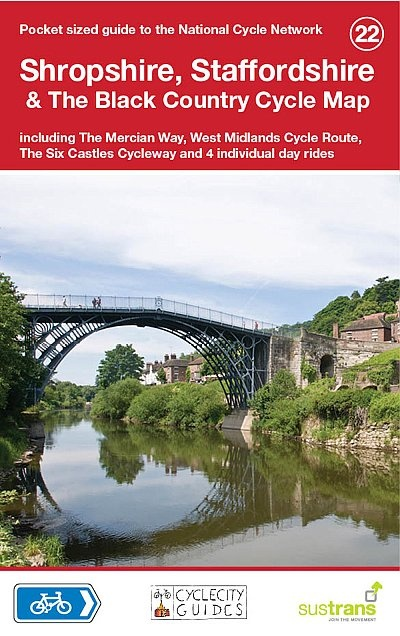 CCG22 Shropshire, Staffordshire & The Black Country 9781900623377  Cycle City Guides / Sustrans   Fietskaarten Midlands, Cotswolds, Oxford
