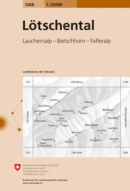 CH-1268  Lötschental [2020] topografische wandelkaart 9783302012681  Bundesamt / Swisstopo LKS 1:25.000  Wandelkaarten Wallis