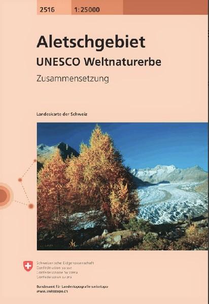CH-2516  Aletschgebiet [2014] topografische wandelkaart 9783302025162  Bundesamt / Swisstopo LKS 1:25.000 Zusammensetzung  Wandelkaarten Wallis