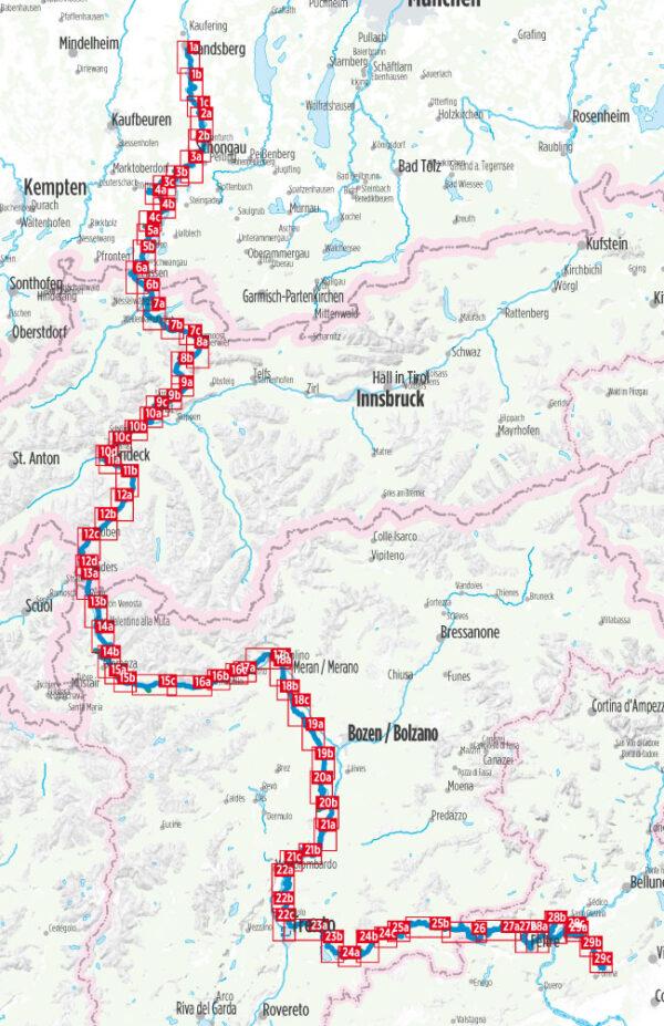 Via Claudia Augusta | Hikeline Wanderführer (wandelgids) 9783850007191  Esterbauer Hikeline wandelgidsen  Lopen naar Rome, Meerdaagse wandelroutes, Wandelgidsen Zwitserland en Oostenrijk (en Alpen als geheel)