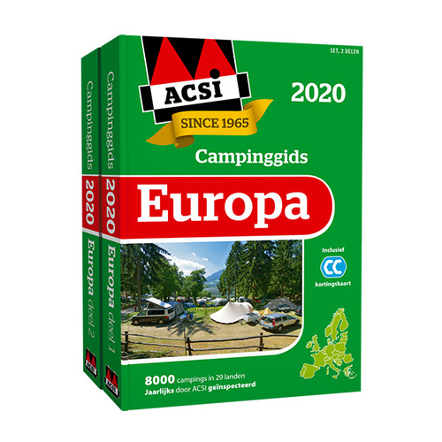 ACSI Campinggids Europa 2020 9789492023841  ACSI   Campinggidsen Europa