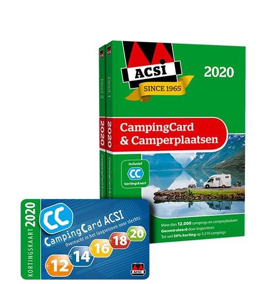 ACSI CampingCard & Camperplaatsen 2020 9789492023896  ACSI   Campinggidsen, Op reis met je camper Europa