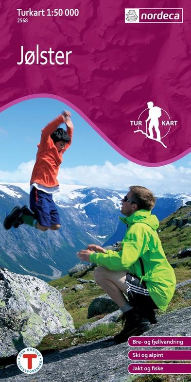 UG-2568 Jolster | topografische wandelkaart 1:50.000 7046660025680  Nordeca / Ugland Turkart Norge 1:50.000  Wandelkaarten Noorwegen boven de Sognefjord