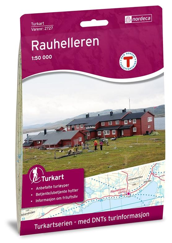 UG-2727 Rauhelleren   topografische wandelkaart 1:50.000 7046660027271  Nordeca / Ugland Turkart Norge 1:50.000  Wandelkaarten Zuid-Noorwegen