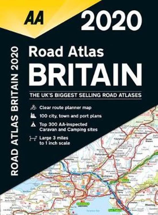 Road Atlas Britain Spiral 1:200.000 2020 9780749581350  AA Wegenatlassen  Wegenatlassen Groot-Brittannië