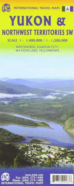 Yukon | landkaart, autokaart 1:1.000.000 9781771299183  ITM   Landkaarten en wegenkaarten West-Canada, Rockies