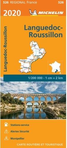 526 Languedoc-Roussillon | Michelin  wegenkaart, autokaart 1:200.000 9782067243897  Michelin Regionale kaarten  Landkaarten en wegenkaarten Cevennen, Languedoc