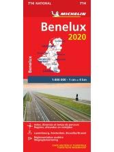 714  Benelux 2020 | Michelin  wegenkaart, autokaart 1:400.000 9782067244023  Michelin Michelinkaarten Jaaredities  Landkaarten en wegenkaarten Benelux