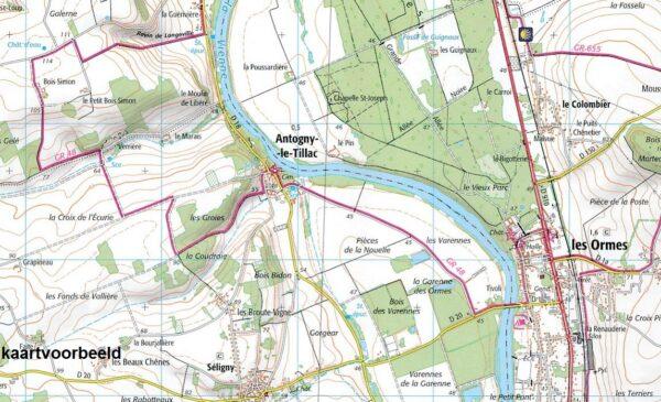 wandelkaart 2622-SB Clamécy, Tannay, Varzy 1:25.000 9782758536253  IGN IGN 25 Bourgogne & Morvan  Wandelkaarten Morvan