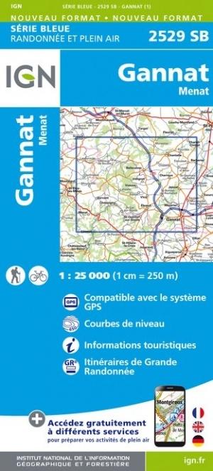 SB-2529SB Gannat, Menat | wandelkaart 1:25.000 9782758539230  IGN IGN 25 Auvergne  Wandelkaarten Auvergne