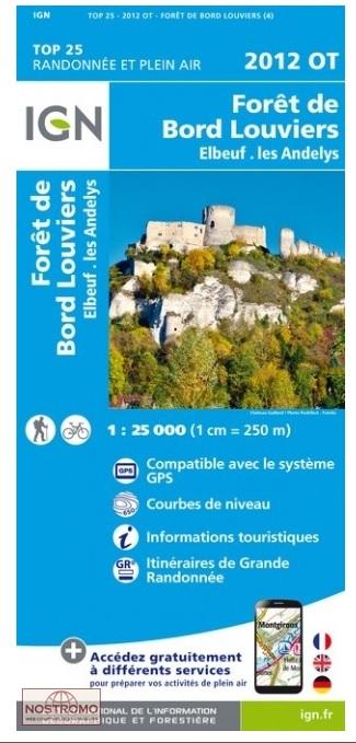 2012OT   Forêt de Bord-Louviers, Elbeuf | wandelkaart 1:25.000 9782758541486  IGN IGN 25 Normandië  Wandelkaarten Normandië