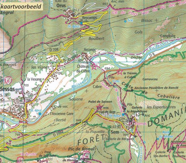 wandelkaart 2333-SB Bort-les-Orgues, Neuvic 1:25.000 9782758546238  IGN IGN 25 Auvergne  Wandelkaarten Auvergne