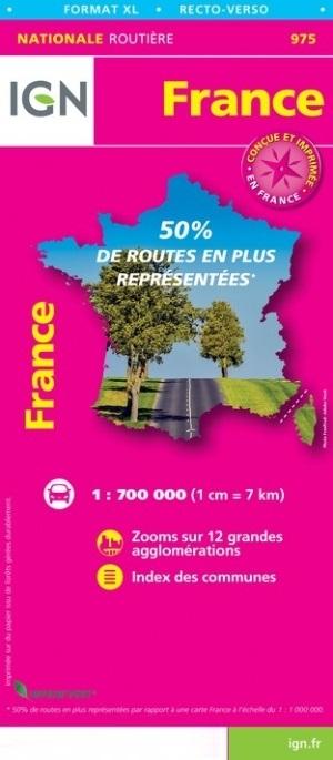 975 Frankrijk 1:750.000 9782758549055  IGN   Landkaarten en wegenkaarten Frankrijk