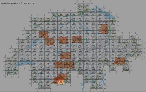 CH-1348  Zermatt  [2017] topografische wandelkaart 9783302013480  Bundesamt / Swisstopo LKS 1:25.000  Wandelkaarten Wallis