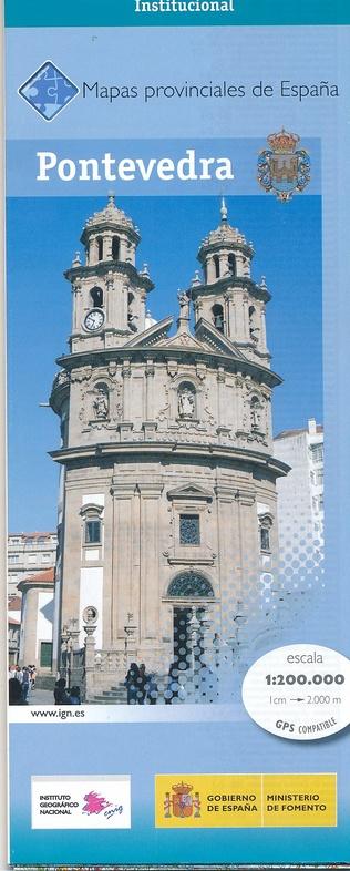 Prov.: Pontevedra 1:200.000 9788441627284  CNIG Provinciekaarten Spanje  Landkaarten en wegenkaarten Noordwest-Spanje