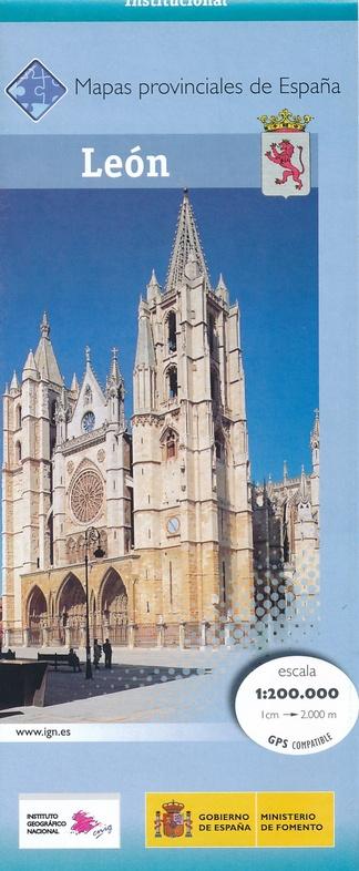 Prov.: León 1:200.000 9788441630314  CNIG Provinciekaarten Spanje  Landkaarten en wegenkaarten Noordwest-Spanje