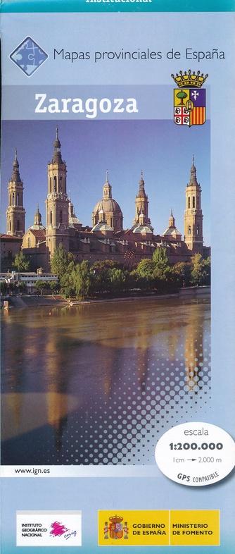 Prov.: Zaragoza 1:200.000 9788441630321  CNIG Provinciekaarten Spanje  Landkaarten en wegenkaarten Catalonië