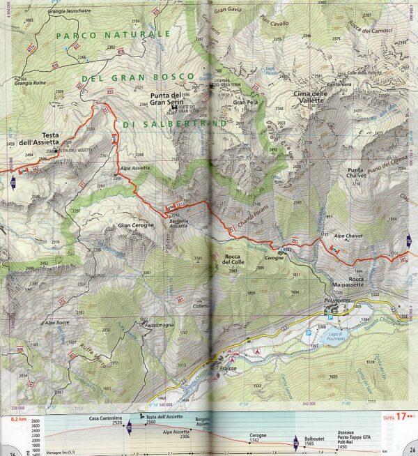 GTA 2: Centro - Grande Traversata delle Alpi   wandelatlas GTA, deel MIDDEN 9788869853708  National Geographic NG wandelatlassen  Meerdaagse wandelroutes, Wandelgidsen, Wandelkaarten Turijn, Piemonte