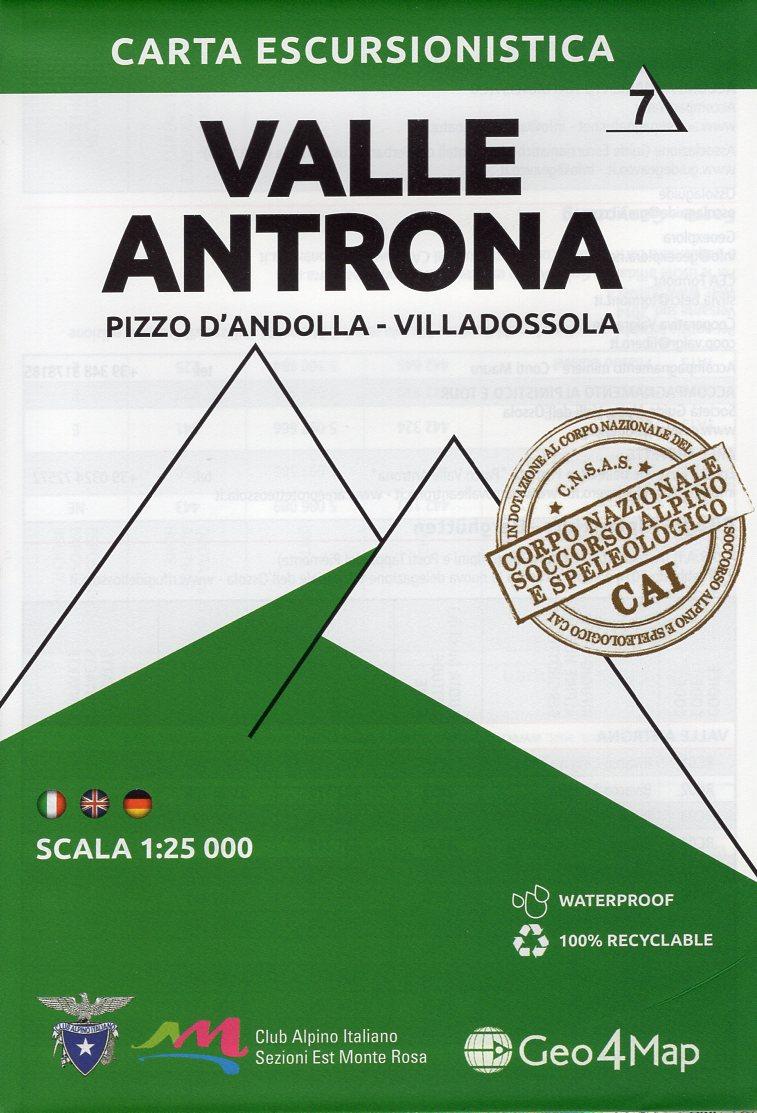 G4M-07 Valle Antrona | wandelkaart 1:25.000 9788899606121  Geo4Map   Wandelkaarten Turijn, Piemonte