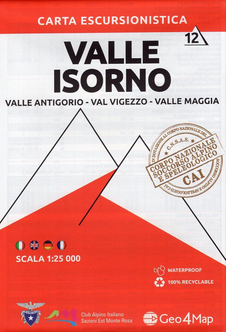 G4M-12 Valle Isorno | wandelkaart 1:25.000 9788899606169  Geo4Map   Wandelkaarten Turijn, Piemonte