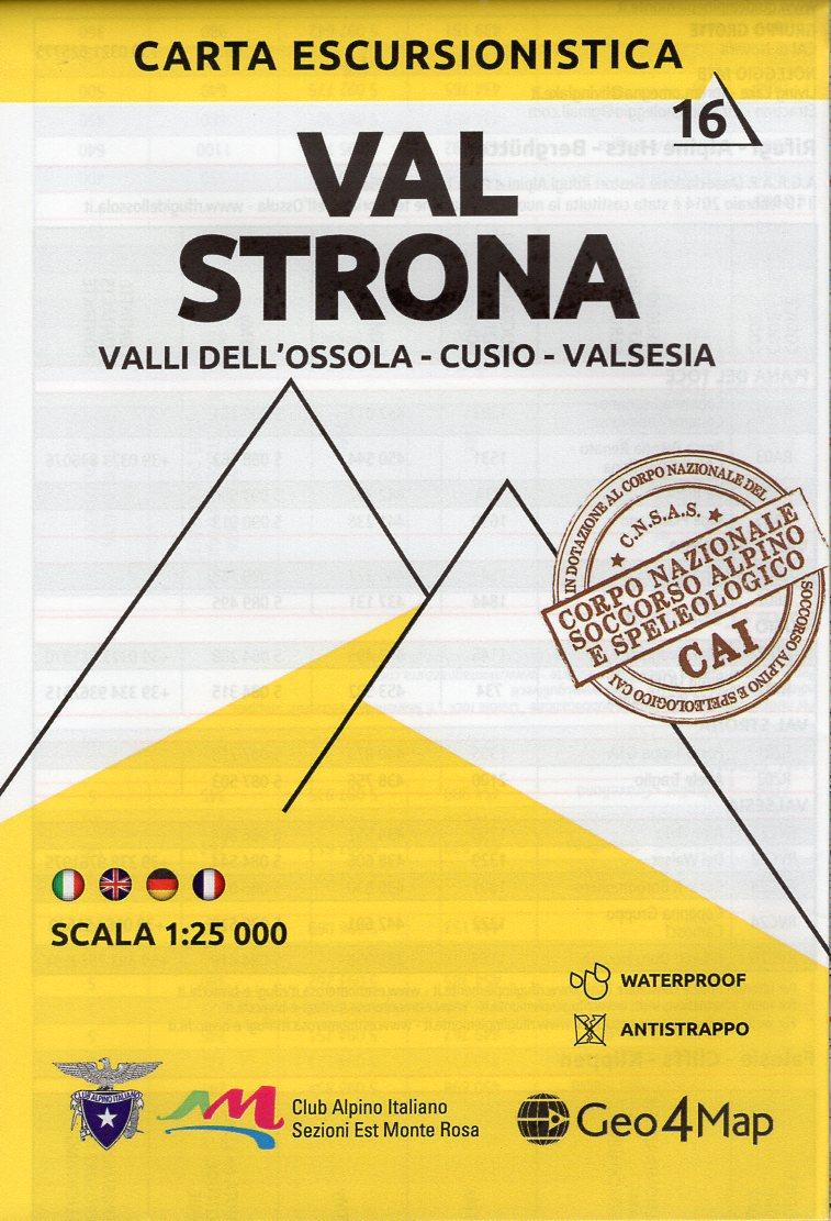 G4M-16 Val Strona | wandelkaart 1:25.000 9788899606176  Geo4Map   Wandelkaarten Turijn, Piemonte