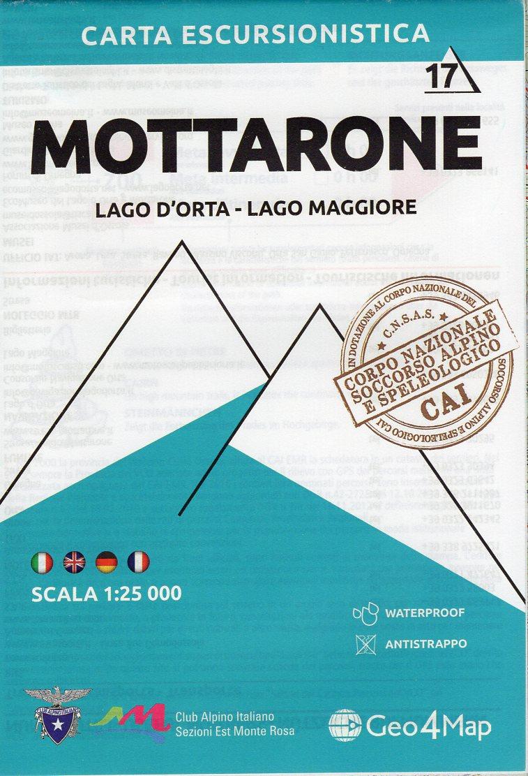 G4M-17 Mottarone | wandelkaart 1:25.000 9788899606183  Geo4Map   Wandelkaarten Turijn, Piemonte