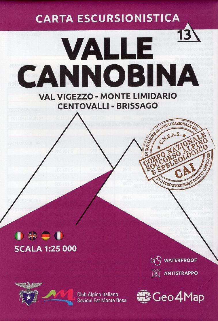 G4M-13 Valle Cannobina | wandelkaart 1:25.000 9788899606336  Geo4Map   Wandelkaarten Turijn, Piemonte