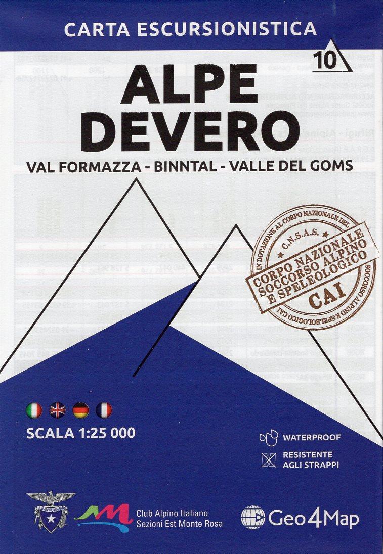 G4M-10 Alpe Devero | wandelkaart 1:25.000 9788899606404  Geo4Map   Wandelkaarten Turijn, Piemonte, Wallis
