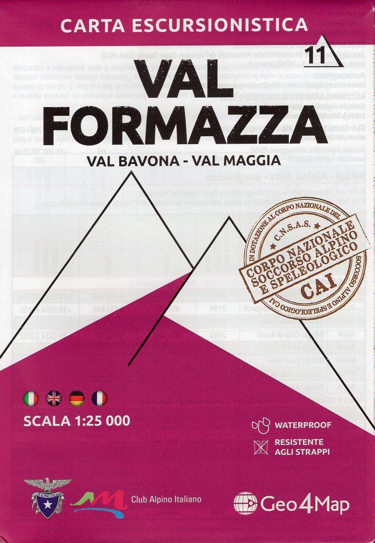 G4M-11 Val Formazza | wandelkaart 1:25.000 9788899606411  Geo4Map   Wandelkaarten Turijn, Piemonte