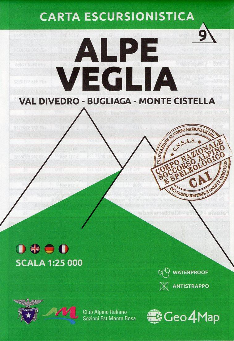 G4M-09 Alpe Veglia | wandelkaart 1:25.000 9788899606428  Geo4Map   Wandelkaarten Turijn, Piemonte