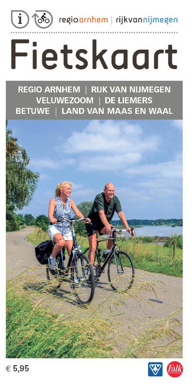 Fietskaart regio Arnhem Nijmegen 9789028700901  Falk Fietskaarten met Knooppunten  Fietskaarten Nijmegen en het Rivierengebied