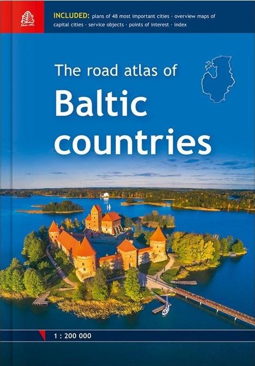 Baltische Staten 1:200.000 atlas 9789984077413  Jana Seta   Wegenatlassen Baltische Staten en Kaliningrad